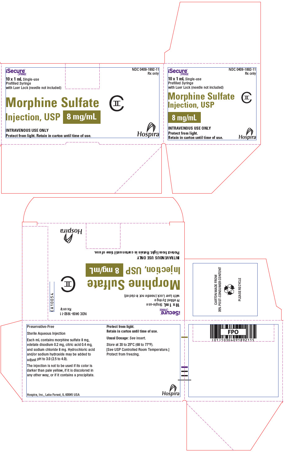 PRINCIPAL DISPLAY PANEL - 8 mg/mL Syringe Carton
