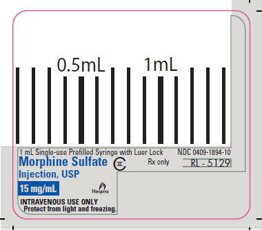 PRINCIPAL DISPLAY PANEL - 15 mg/mL Syringe Label - RL-5129