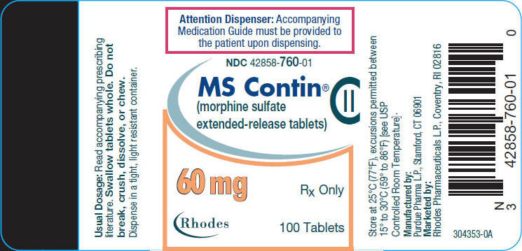 PRINCIPAL DISPLAY PANEL - 60 mg Tablet Bottle Label