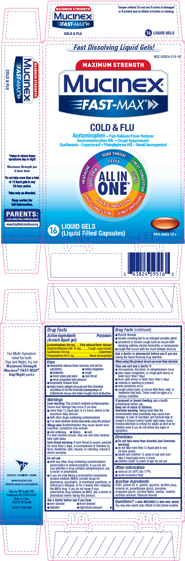 PRINCIPAL DISPLAY PANEL - 16 Liquid Gel Blister Pack Carton