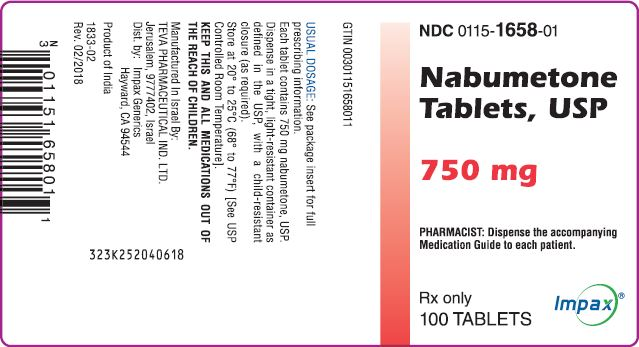 Container Label - 750 mg - 100 Ct.