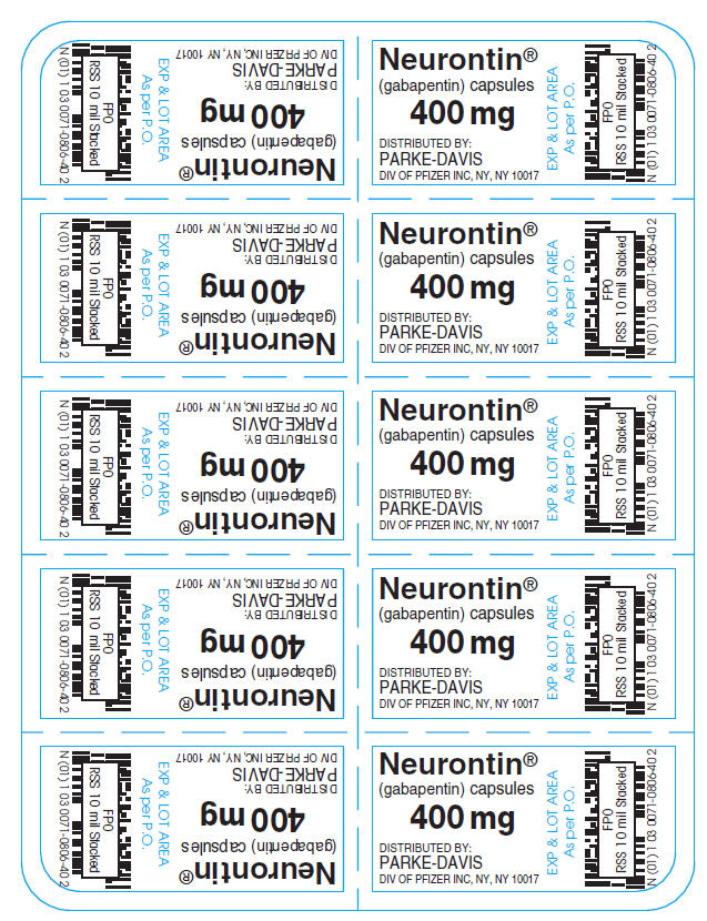 PRINCIPAL DISPLAY PANEL - 400 mg Capsule Blister Pack