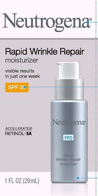 Neutrogena Rapid Wrinkle Repair Moisturizer Spf 30 while Breastfeeding