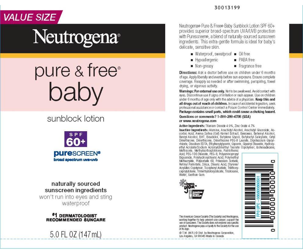 Neutrogena Pure And Free Baby Sunblock Spf 60plus Purescreen Breastfeeding