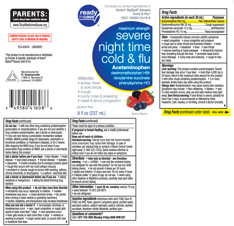 SEVERE COLD AND FLU NIGHTTIME- Acetaminophen