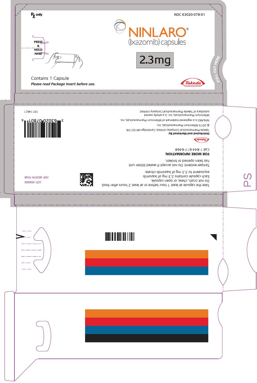 RX ITEM-Ninlaro ixazomib cit 2.3Mg Cap 1X3 Unit Dose Package By Ninlaro Pharma