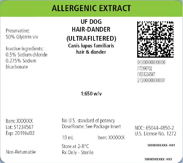 AP Cattle Hair-Dander, 10 mL 1:50 w/v Carton Label