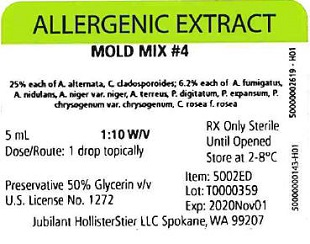 Mold Mix #4, 5 mL 1:10 w/v Vial Label