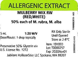 Mulberry Mix RW, 5 mL 1:20 w/v Vial Label