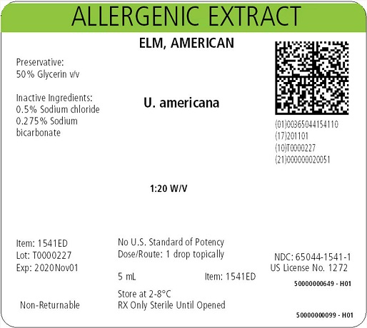 Elm, American, 5 mL 1:20 w/v Carton Label
