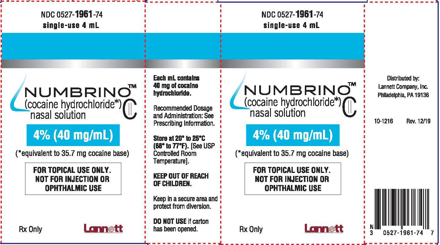RX ITEM-NUMBRINO 4% (40 mg/ mL) Nasal Solution 10ML by Lannett Pharma