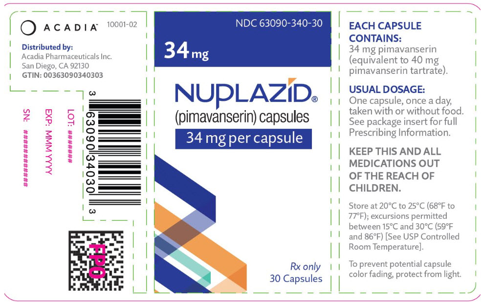 PRINCIPAL DISPLAY PANEL - 34 mg Capsule Bottle Label
