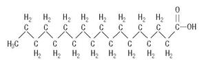 Stearic Acid structural formula