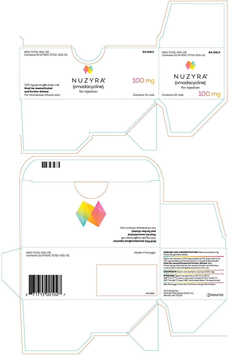 Rx Item-Nuzyra omadacycline 150mg tab 6 by  Paratek Pharma