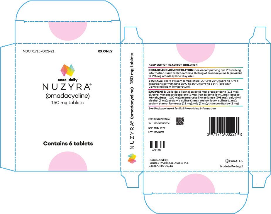 '.Rx Item-Nuzyra omadacycline 150mg tab 6 .'