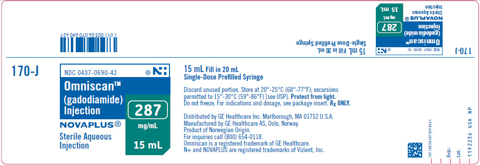 PRINCIPAL DISPLAY PANEL - 15 mL Syringe Label