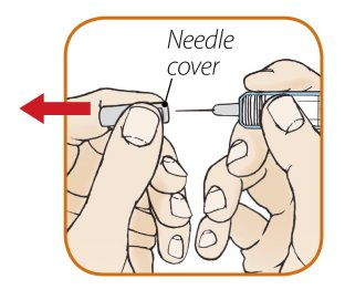 Remove needle cover