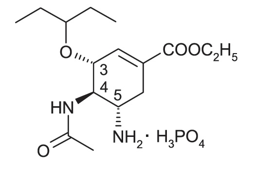 oseltamivir_phosphate_structure
