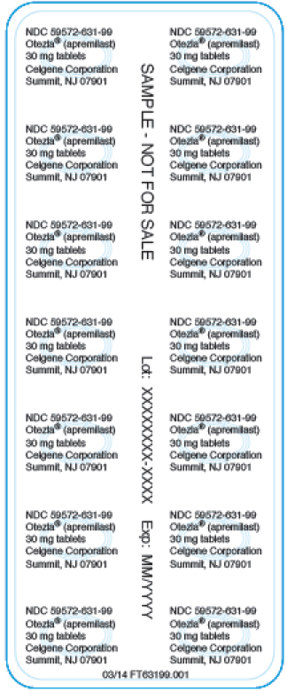 PRINCIPAL DISPLAY PANEL - NDC: 59572-631-99 - Sample 30 mg 28-count Blister Foil