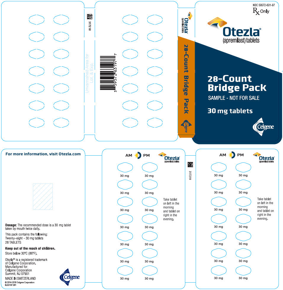 PRINCIPAL DISPLAY PANEL - 30 mg Tablet Sample Bridge Pack - NDC: 59572-631-97