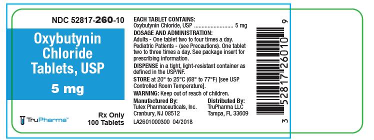 Oxybutynin Chloride Tablets, USP, 5 mg, 100 count