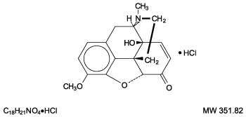 This is an image of the structural formula for oxycodone hydrochloride.