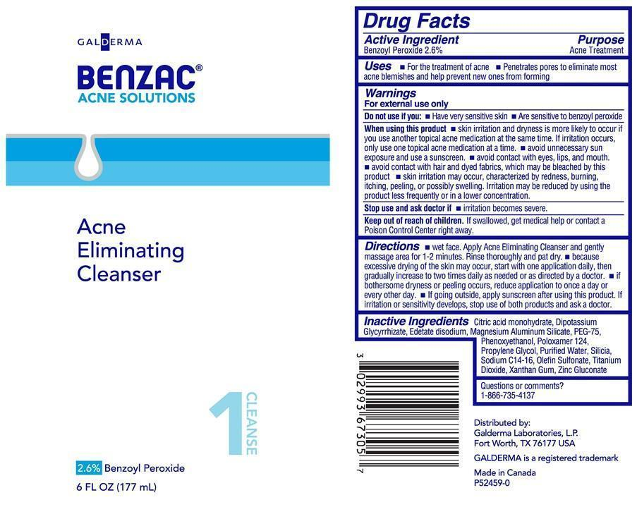 Benzac Acne Eliminating Cleanser Tube