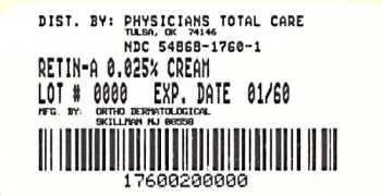 image of 0.025% Cream package label