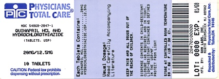 image of 20/12.5 mg package label