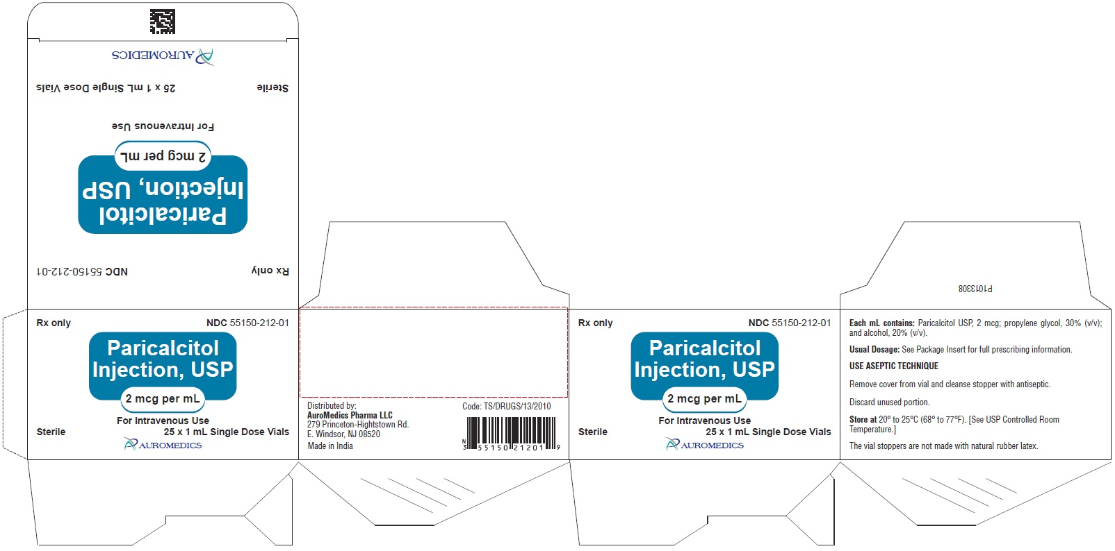 PACKAGE LABEL-PRINCIPAL DISPLAY PANEL - 2 mcg per mL Container-Carton (25 Vials)