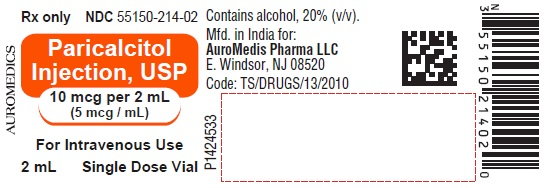 PACKAGE LABEL-PRINCIPAL DISPLAY PANEL - 10 mcg per 2 mL (5 mcg / mL) [Single Dose Vial] - Container Label