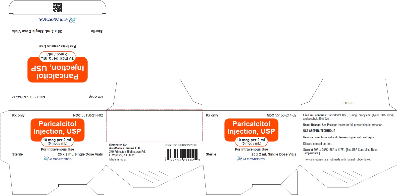 PACKAGE LABEL-PRINCIPAL DISPLAY PANEL - 10 mcg per 2 mL (5 mcg / mL) [Single Dose Vial] - Container-Carton (25 Vials)