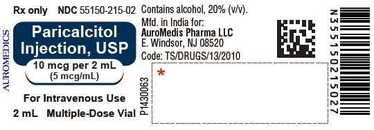 PACKAGE LABEL-PRINCIPAL DISPLAY PANEL - 10 mcg per 2 mL (5 mcg / mL) [Multi Dose Vial] - Container Label