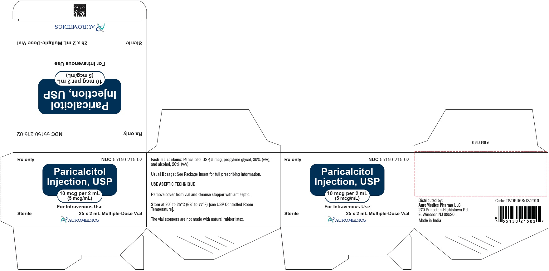 PACKAGE LABEL-PRINCIPAL DISPLAY PANEL - 10 mcg per 2 mL (5 mcg / mL) [Multi Dose Vial] - Container-Carton (25 Vials)