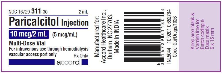10mcg per 2mL vial label