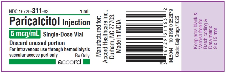 5mcg per mL vial label