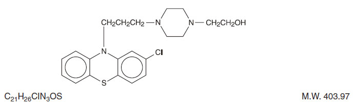 This is the structual formula for Perphenazine.