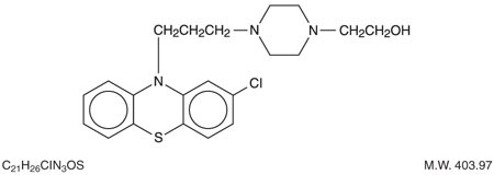 This is an image of the structural formula of perphenazine.