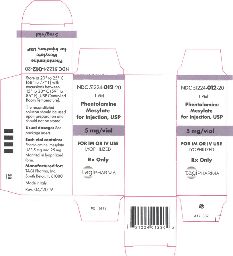 PRINCIPAL DISPLAY PANEL - 5 mg Vial Carton