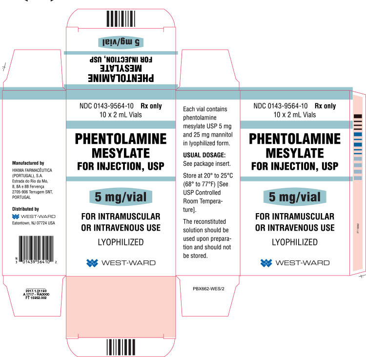 Phentolamine for Injection, USP 5 mg/vial 10 pack carton image