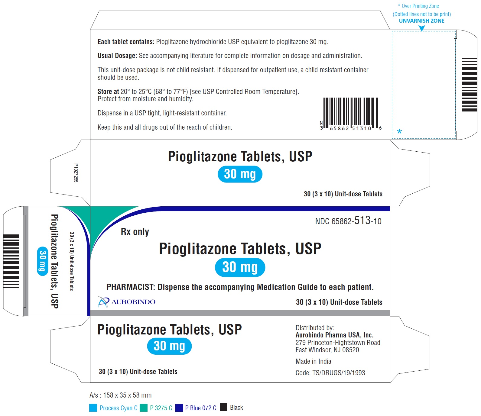 PACKAGE LABEL-PRINCIPAL DISPLAY PANEL - 30 mg Blister Carton (3 x 10 Unit-dose)