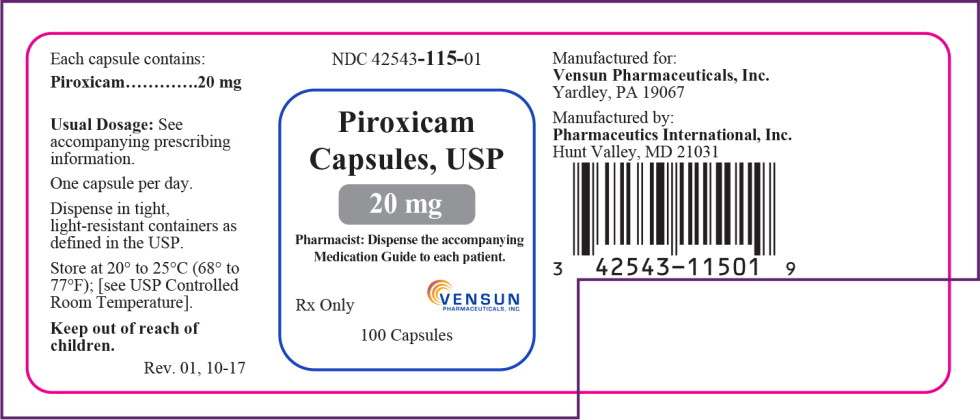 Principal Display Panel - 20mg Bottle Label
