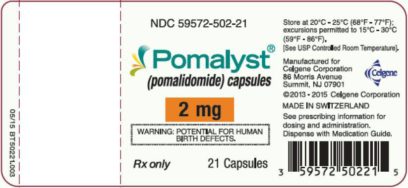Pomalyst (pomalidomide) Capsules, 2 mg - 21 Count Bottle Label