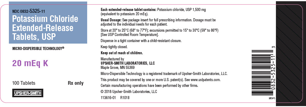 PRINCIPAL DISPLAY PANEL - 20 mEq K Tablet Bottle Label