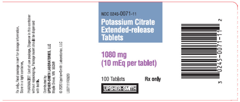 PRINCIPAL DISPLAY PANEL - 1080 mg Bottle Label