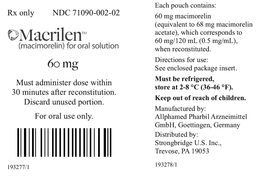 Principal Display Panel - Macrilen Pouch Label