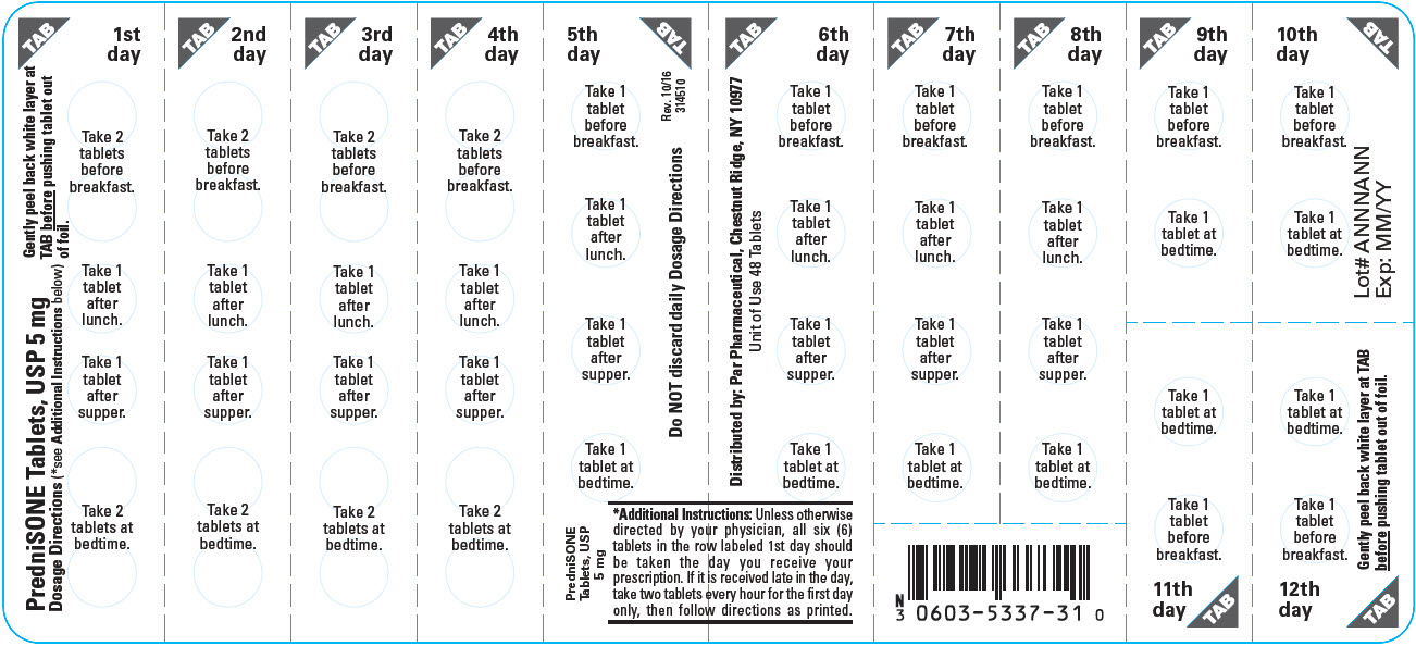 This is an image of a label for PredniSONE Tablets, USP 10 mg.