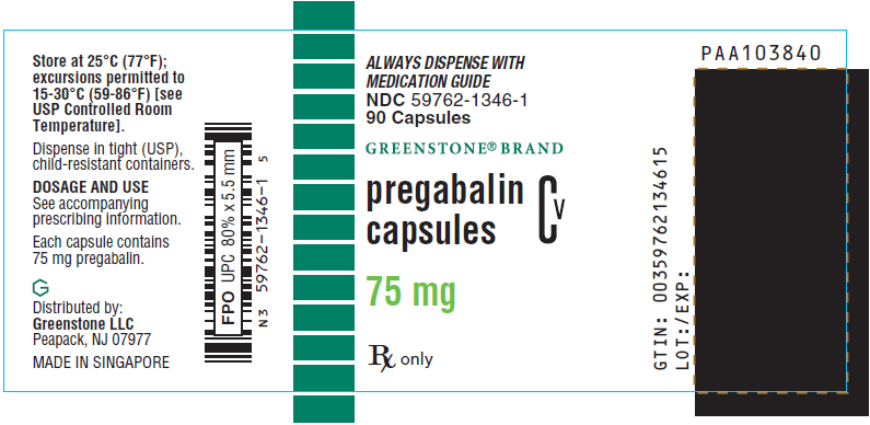 PRINCIPAL DISPLAY PANEL - 75 mg Capsule Bottle Label