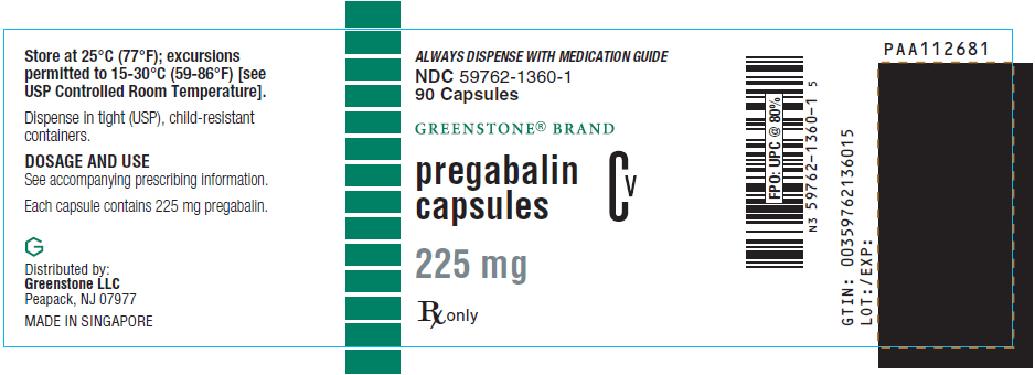 PRINCIPAL DISPLAY PANEL - 225 mg Capsule Bottle Label