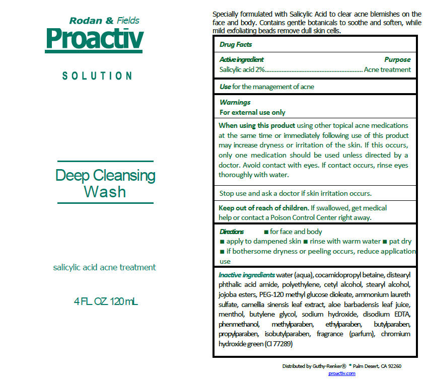 Guthy-renker Proactiv Deep Cleansing Wash   Salicylic Acid Lotion/shampoo Breastfeeding